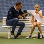 Tennistræner Morten Christensen, og Hannah Viller Møller