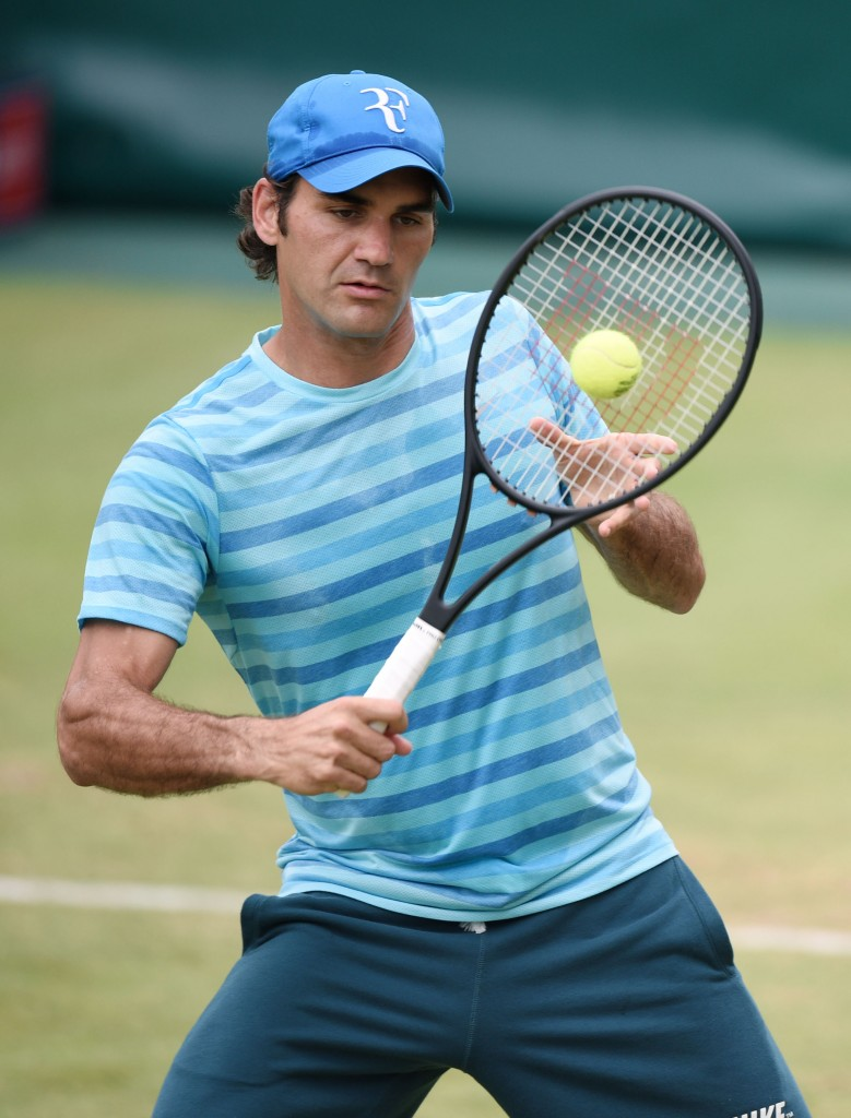 Roger Federer ses her ved Gerry Weber Open 2014 i Halle, Tyskland