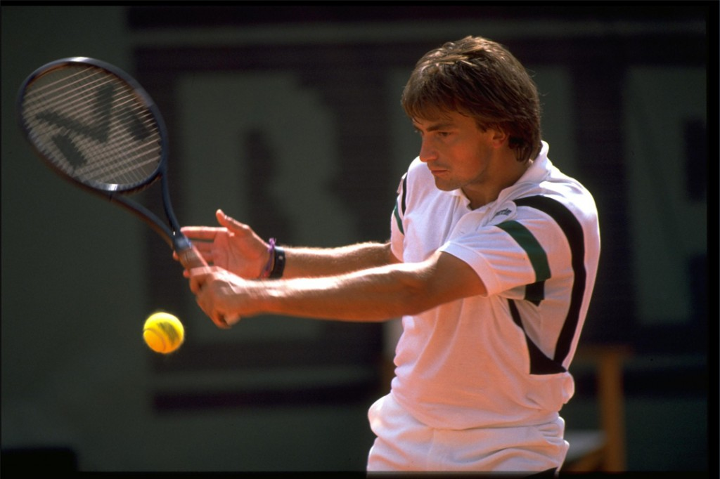 Henri Leconte i juni 1990 ved French Open.
