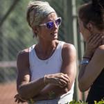 Tennistræner Tine Scheuer-Larsen