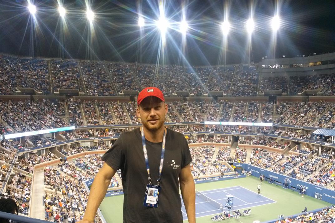 David Mathiesen har været vidt omkring med tennis, først som spiller og siden som fysisk træner. Her ses han ved US Open.