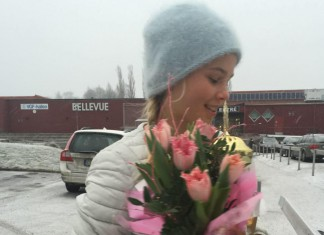 Olga Helmi efter finalen i Vesterås januar 2015