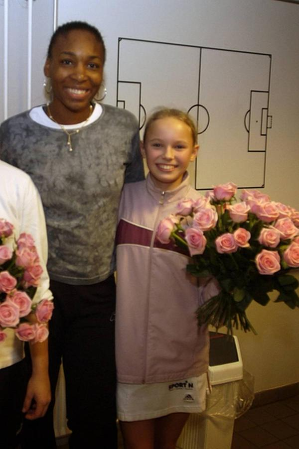 Venus Williams og en ung Caroline Wozniacki