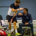 Tennisspilleren Christian Sigsgaard, og Michael Tauson