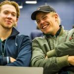 Tennisspillerne Simon Friis Søndergård og Oscar Jeppesen