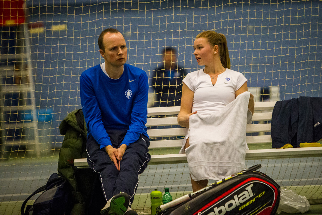 Tennistræner Bjørn Hilberg, og Cecilie Melsted