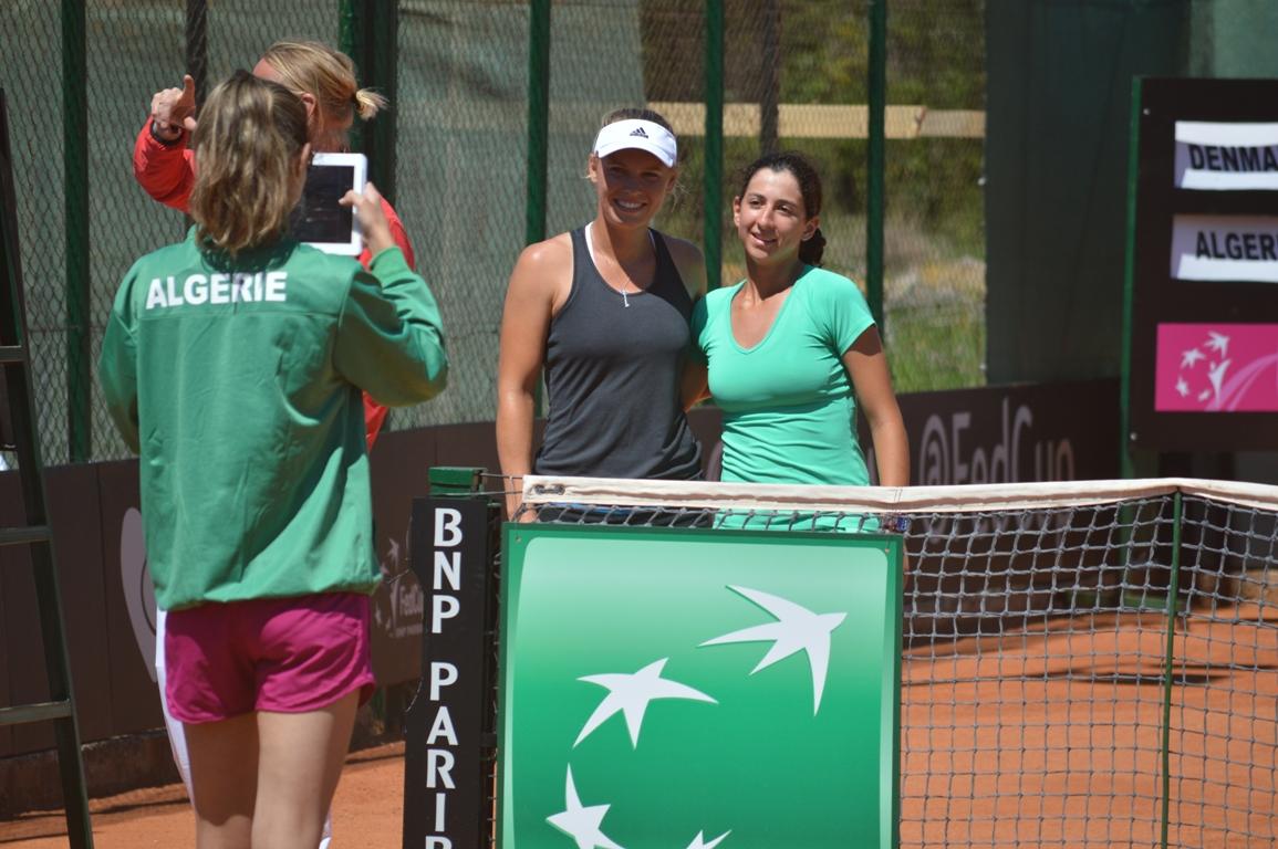 Caroline Wozniacki og Ines Ibbou