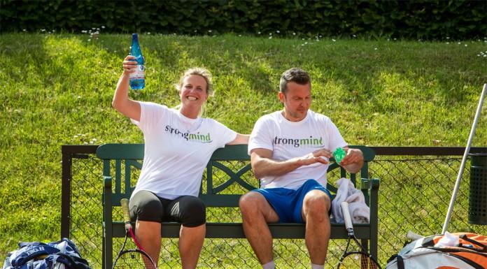 Tennisveteranerne Charlotte Gallina og Jonas Allentoft