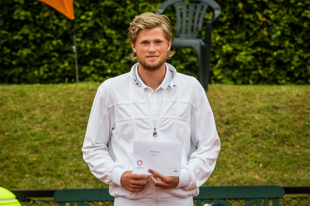 Tennisspilleren Christian Sigsgaard. Vinder af DTF Grand Prix Serie 2015
