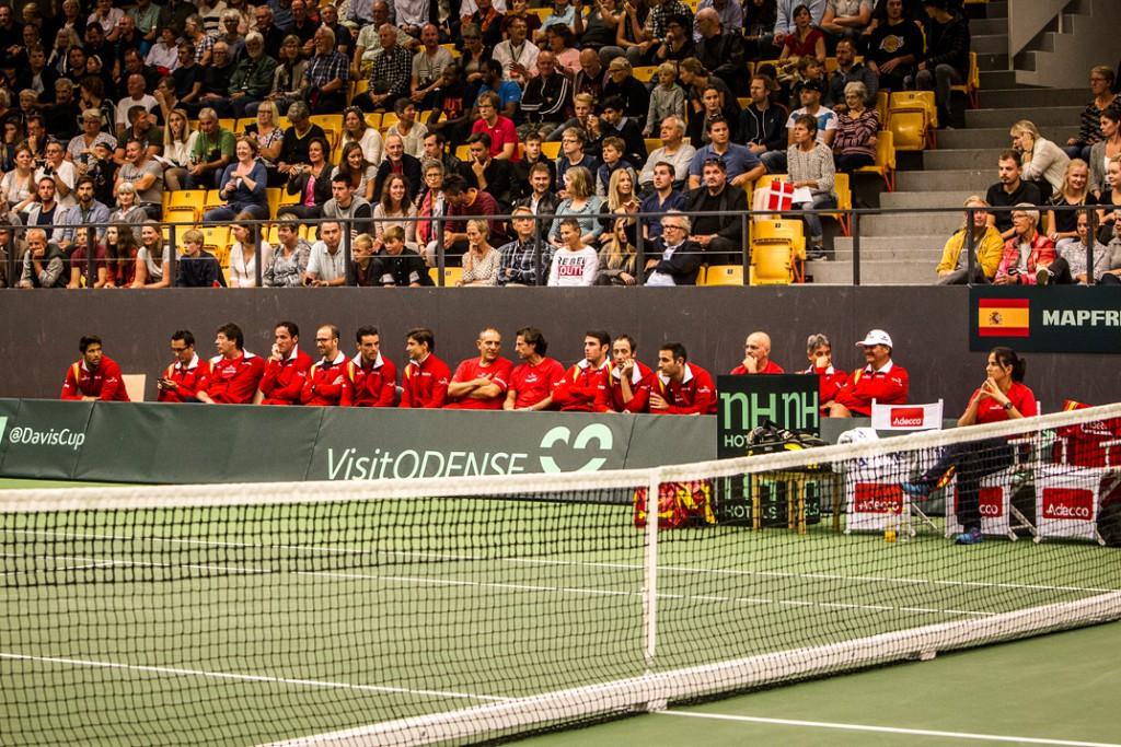 Den spanske Davis Cup bænk ;-)