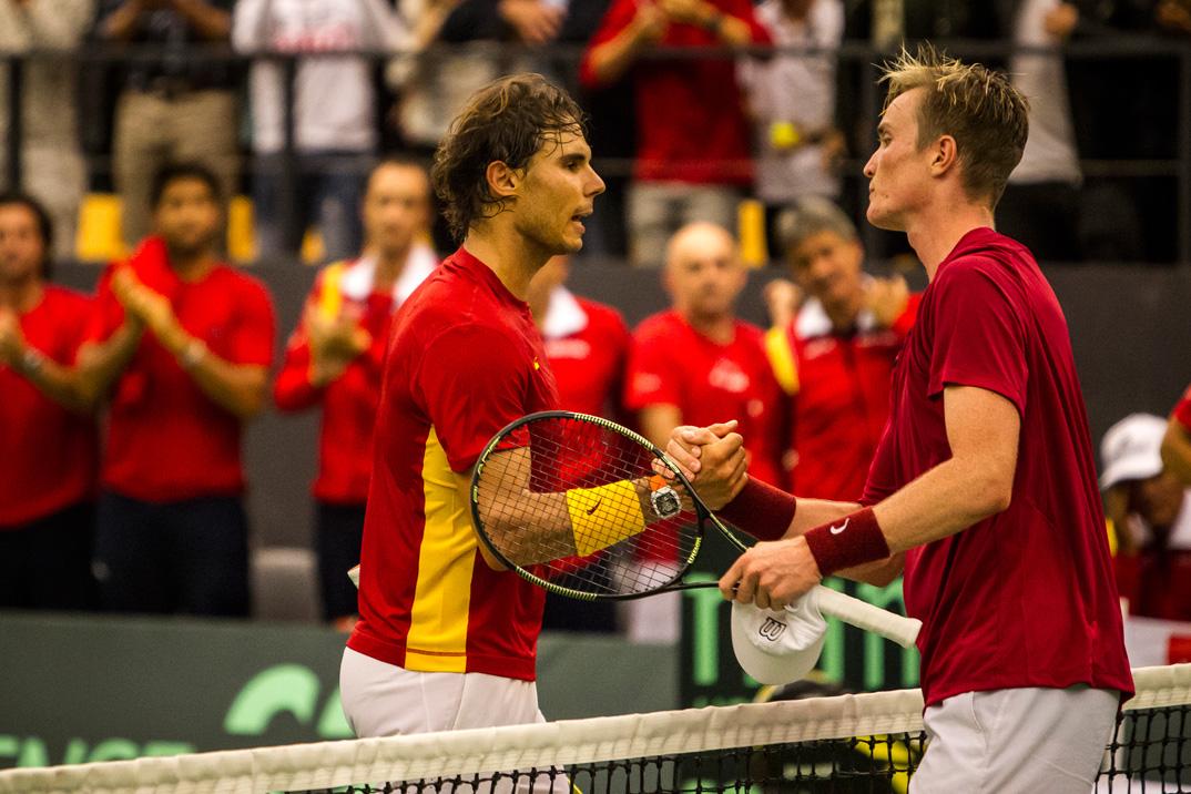 Rafael Nadal og Mikael Torpegaard