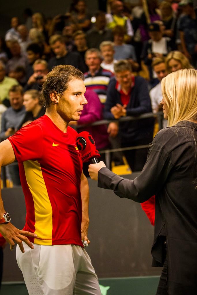 Heidi Møller Eskildsen interviewer Rafael Nadal