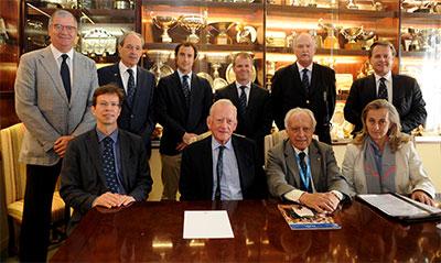 Medlemmer der udgjorde CTC-komitéen til generalforsamlingen i oktober 2015 - Foto: The Association of Centenary Tennis Clubs