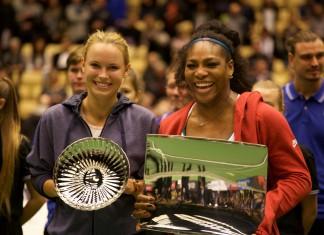 Caroline Wozniacki og Serena Williams
