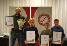 Jens Anker Buus Andersen samt Holger Vitus Nødskov Rune, Elmer Møller og Arthur Leonhard Linck