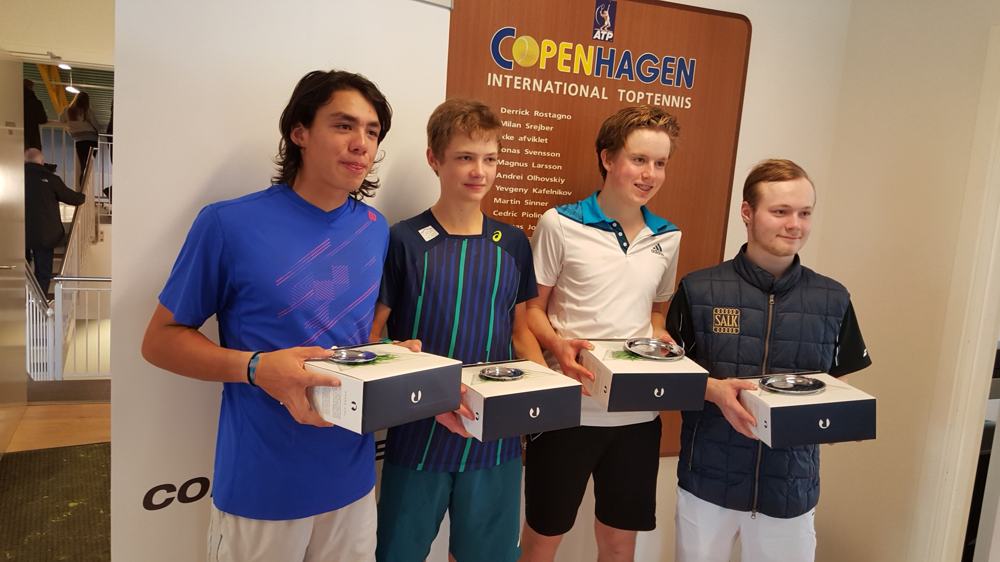 Patrick Kristensen, Sebastian Grundtvig, Johan Garpered og Gilbert Jaeger