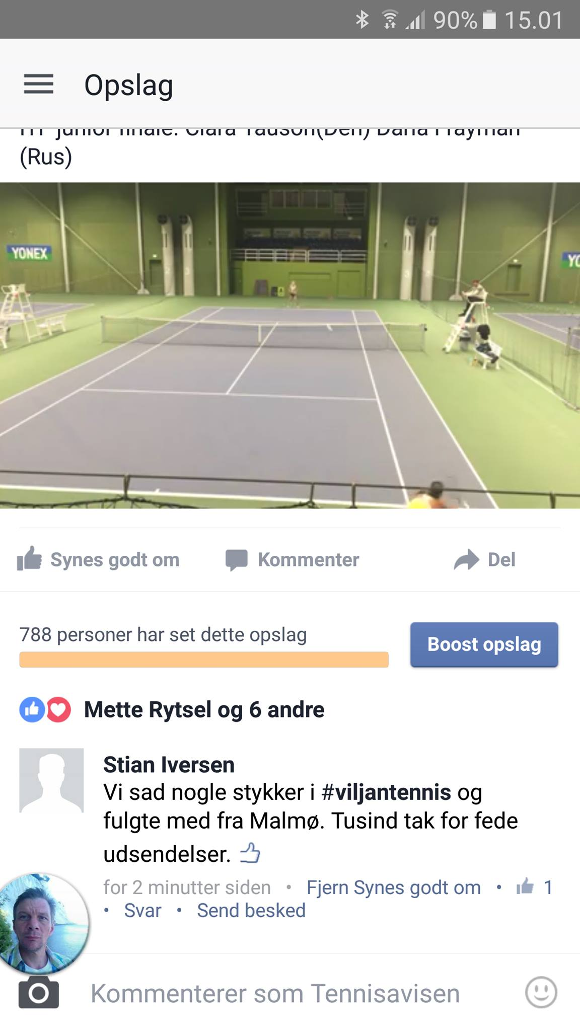 Screendump Tennisavisen
