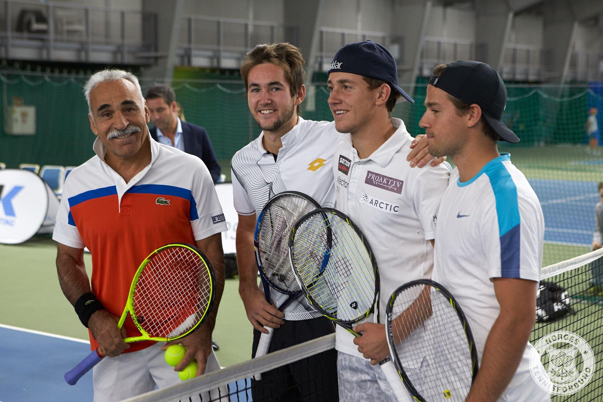 Mansour Bahrami, Viktor Durasovic, Casper Ruud og Joachim Bjerke