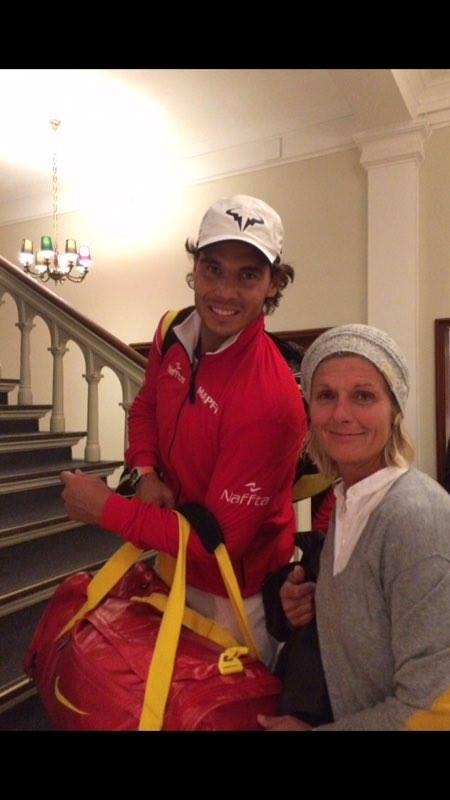Rafael Nadal og Tine Scheuer-Larsen