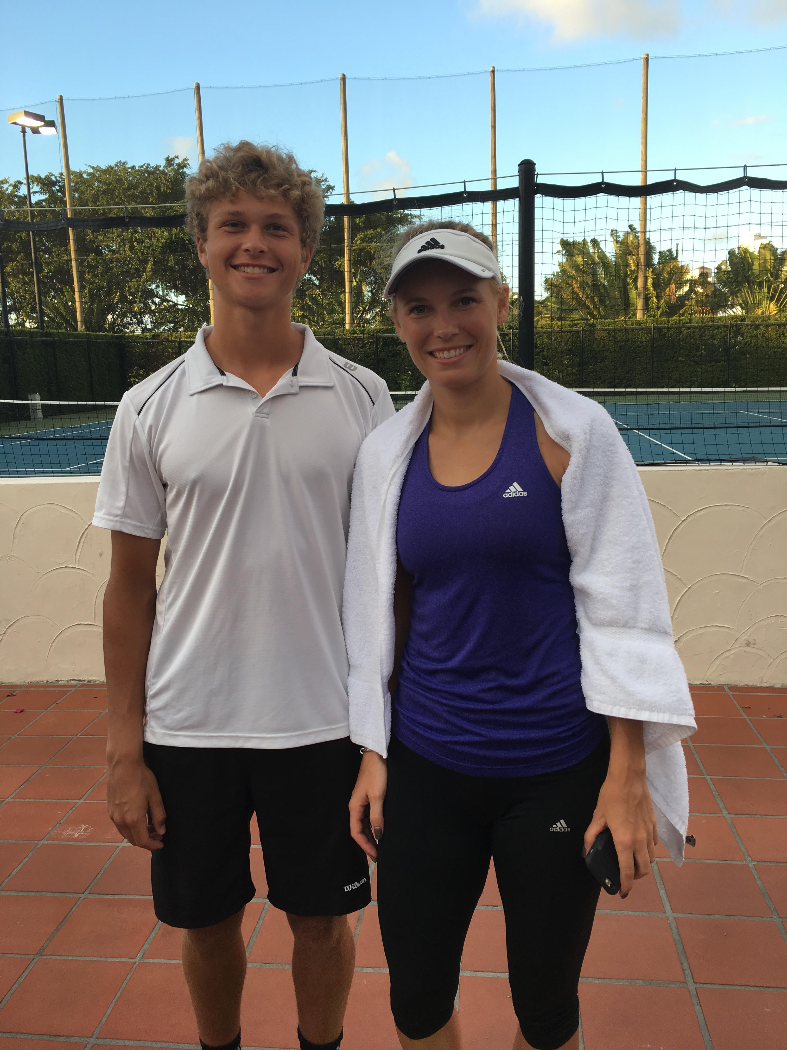 August Holmgren, Caroline Wozniacki