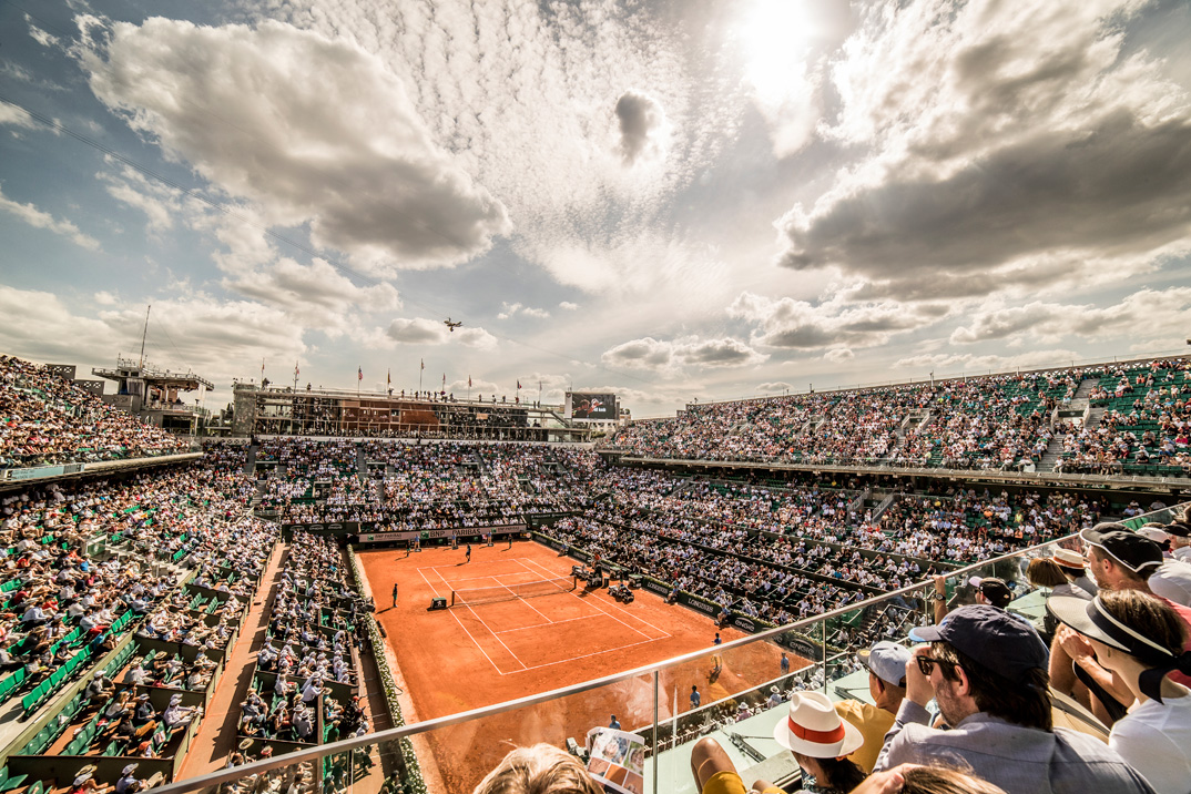Court Philippe-Chatrier. Roland Garros. Paris. French Open 2017