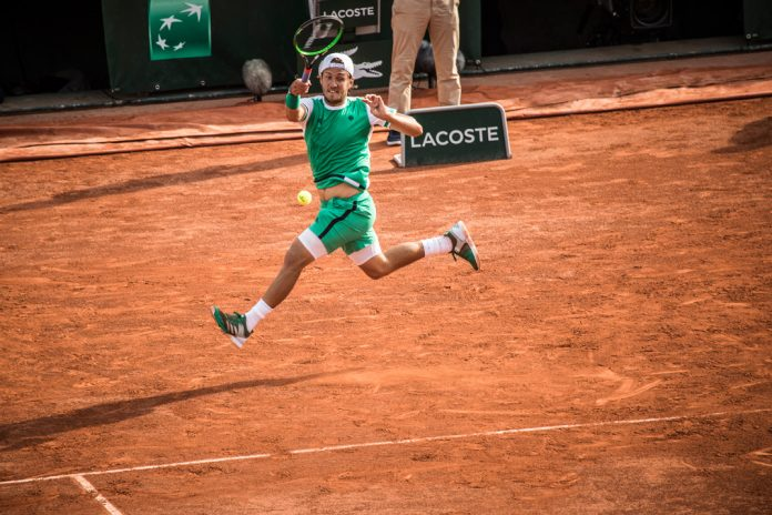 Lucas Pouille. French Open 2017