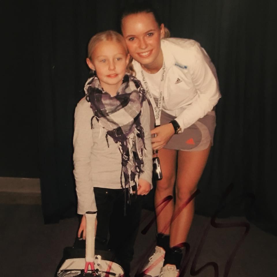 Olivia Gram og Caroline Wozniacki