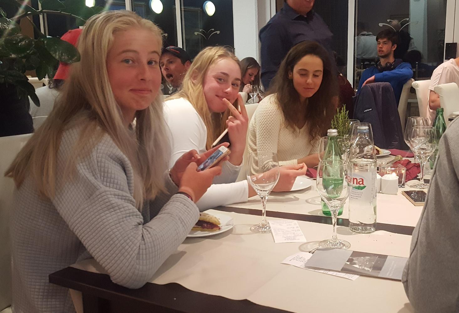 Daria Frayman, Clara Tauson, Dasha Lopatetskaya