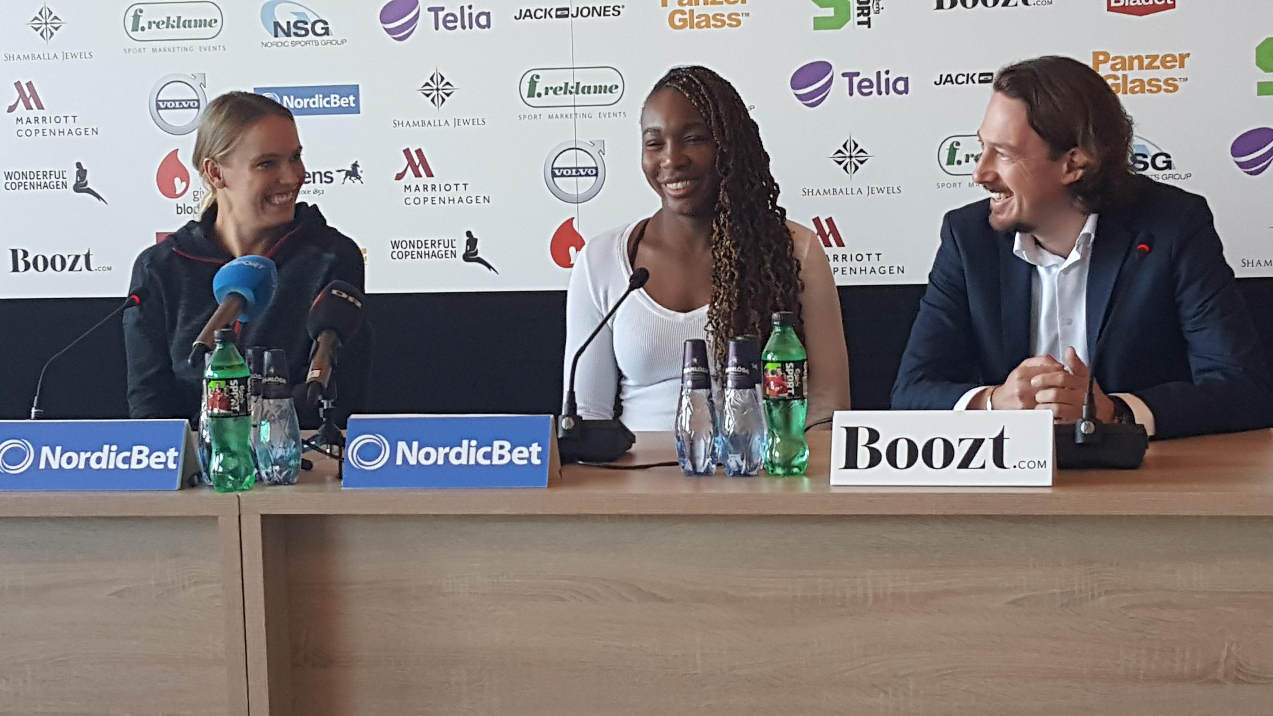 Caroline Wozniacki, Venus Williams, Mads Frederiksen