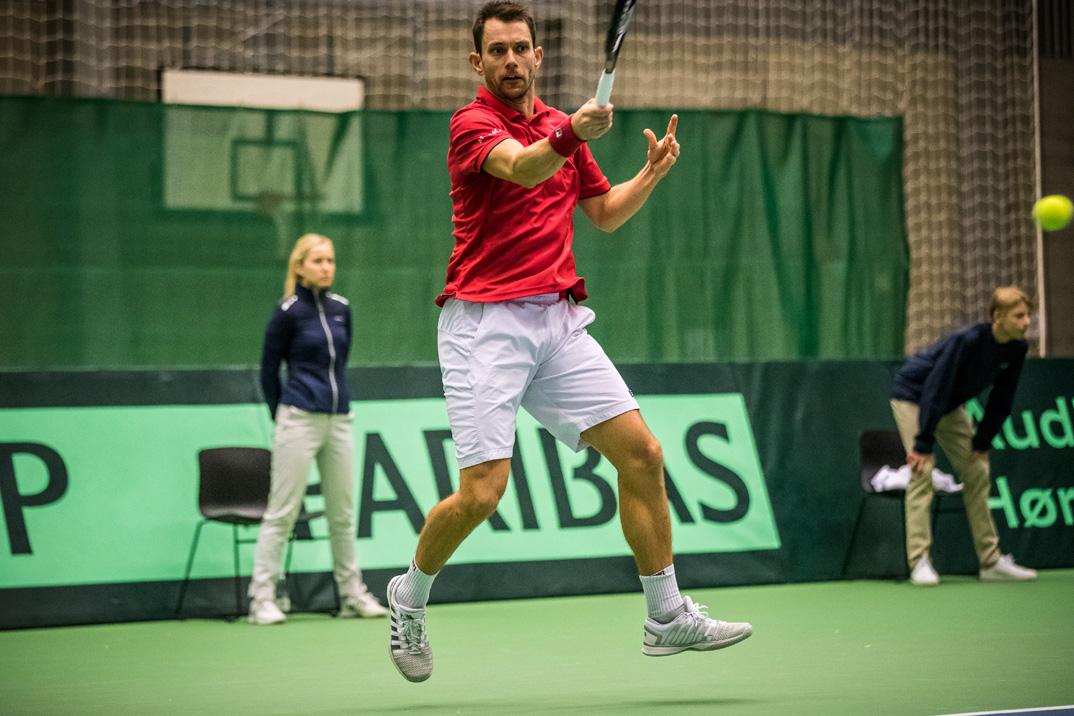 Frederik Løchte Nielsen tabte 1. kamp i Davis Cup kampen mod Egypten