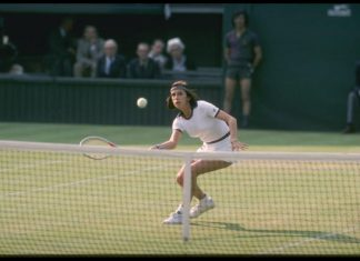 Maria Bueno in action
