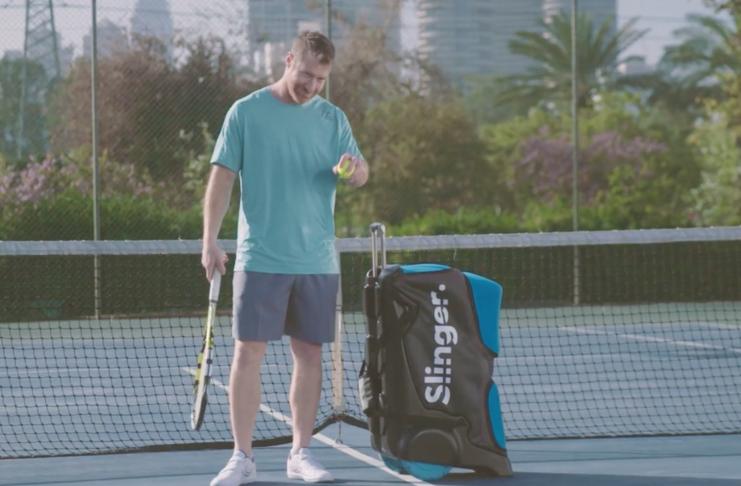 Slinger er verdens mest mobile boldmaskine til tennisspillere
