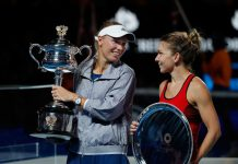 Caroline Wozniacki vandt karierens største trofæ da hun besejrede Simona Halep i Australian Open 2018.
