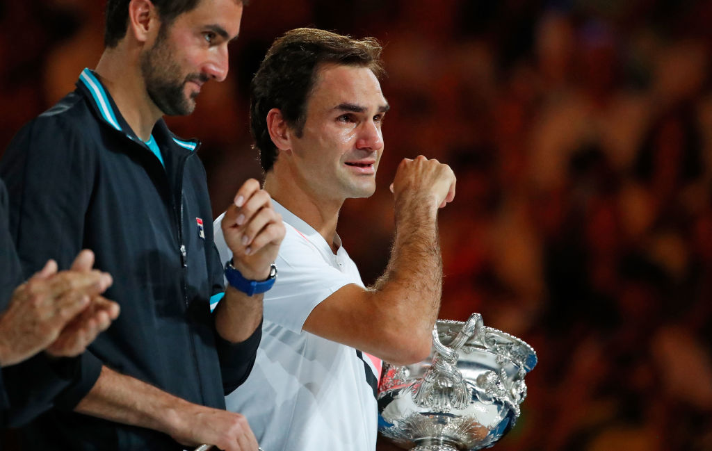 Roger Federer vinder Australian Open 2018 over Marin Cilic.