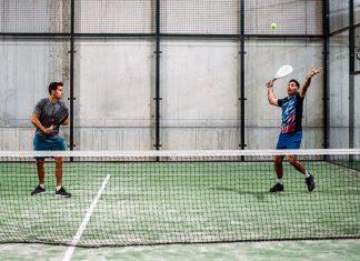 Men playing padel