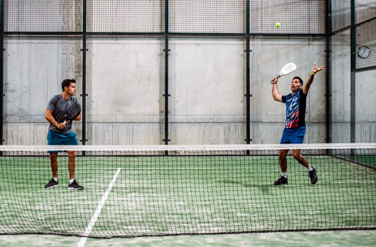 Men playing padel