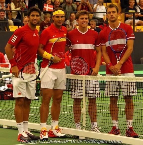 Fernando Verdasco, Rafael Nadal, Frederik Løchte Nielsen