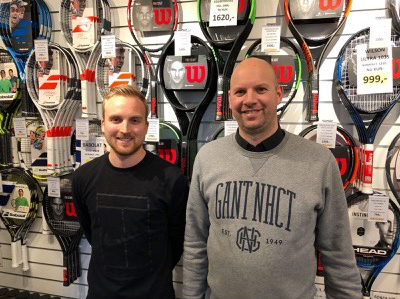 De to ejer af Tennisshoppen.dk, Torben van den Brekel Kulmbak og Mikkel Normann.